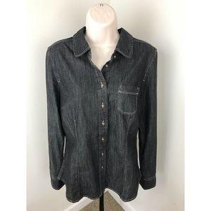 Boden Denim Button Down Shirt 8